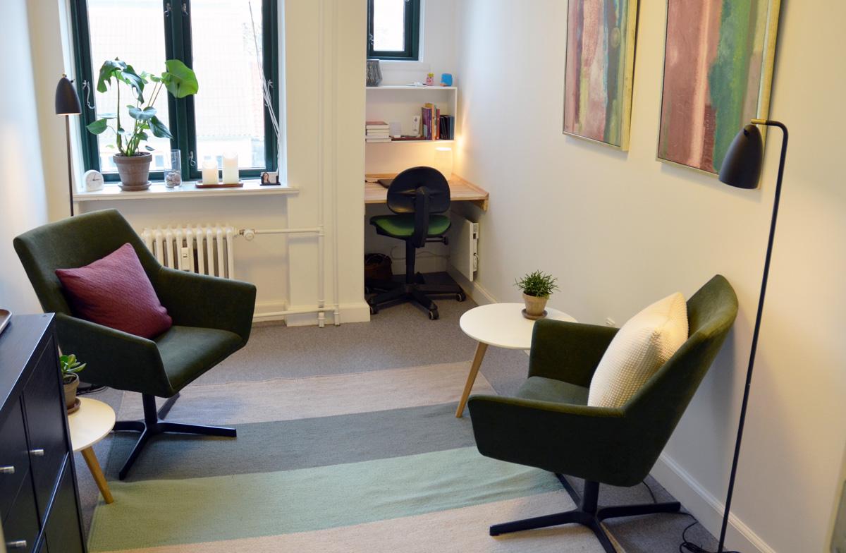 Mit hyggelige lokale i Psykoterapi Århus
